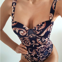 Versace Style Print One piece Swimsuit